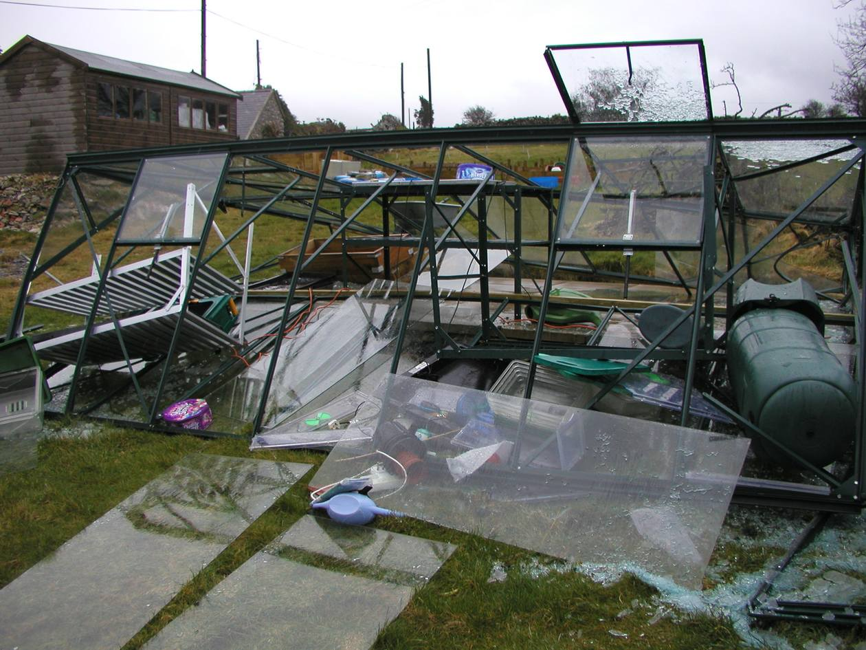 Storm damage to your greenhouse