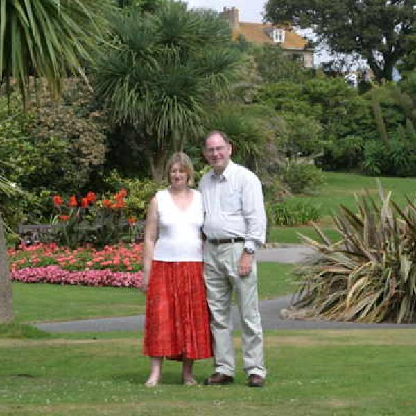 Andrea and Howard in Morab Gardens