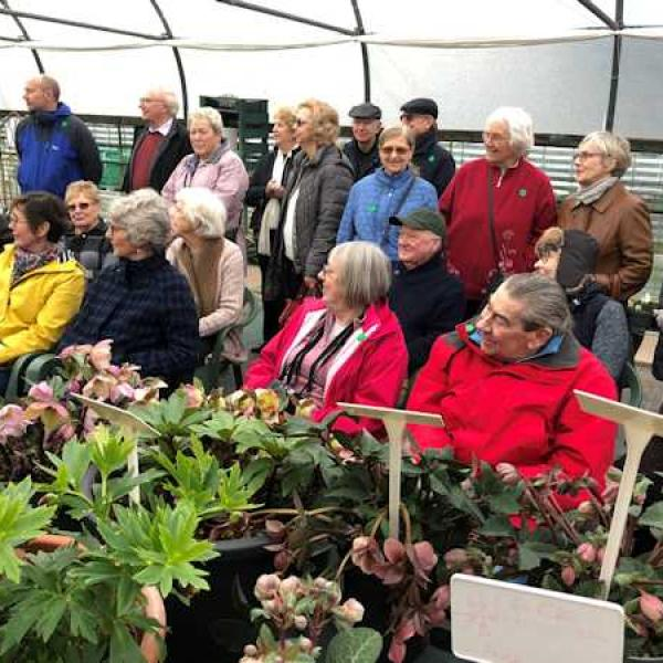 Howard leading a Hellebore Tour at Ashwood Nurseries