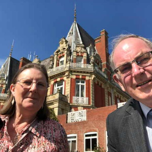 Howard & Andrea enjoy a day out at the Chateau Impney